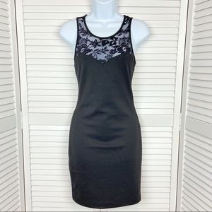 Forever 21 Sweetheart and Lace Neckline Dress SZ M